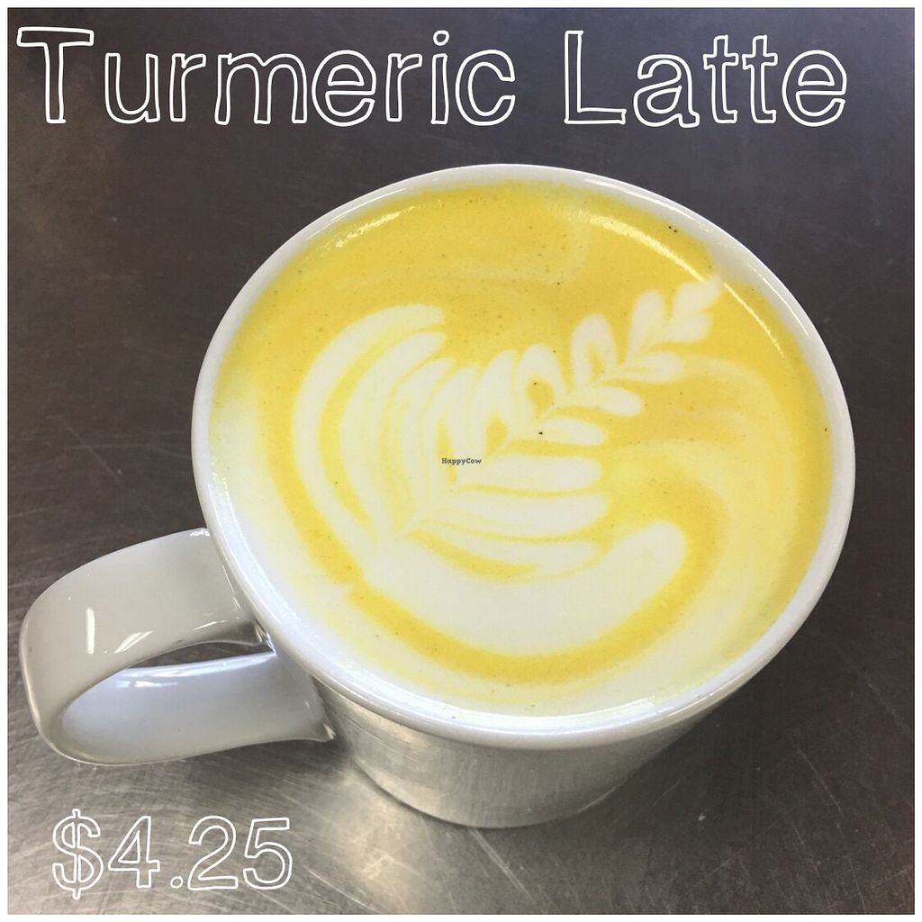 """Photo of 918 Coffee  by <a href=""""/members/profile/918Coffee"""">918Coffee</a> <br/>Turmeric Latte: Turmeric, ginger, black pepper, coconut milk, stevia (specify stevia) <br/> February 2, 2018  - <a href='/contact/abuse/image/110921/353852'>Report</a>"""