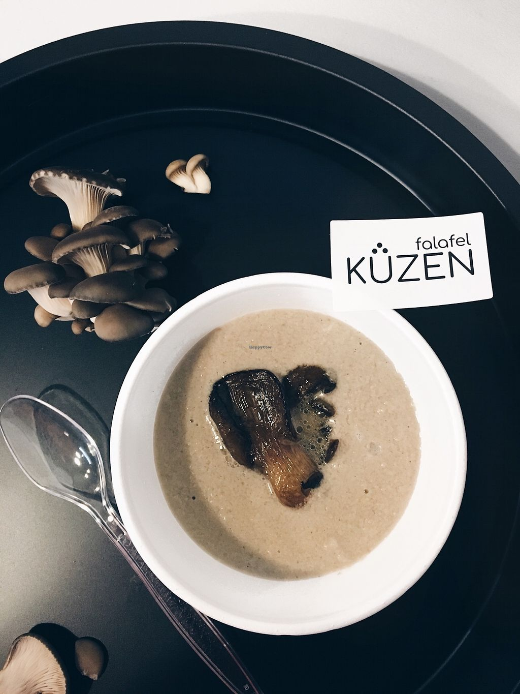 "Photo of Kuzen Falafel  by <a href=""/members/profile/EugeniaTsy"">EugeniaTsy</a> <br/>mushroom cream-soup <br/> February 5, 2018  - <a href='/contact/abuse/image/110939/355369'>Report</a>"
