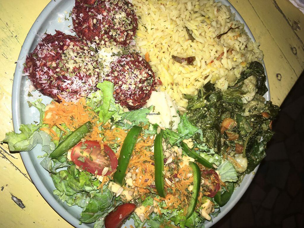 """Photo of Ital Vital  by <a href=""""/members/profile/Stubler"""">Stubler</a> <br/>Raw energy balls, coconut calaloo stew  <br/> April 3, 2018  - <a href='/contact/abuse/image/110976/380029'>Report</a>"""