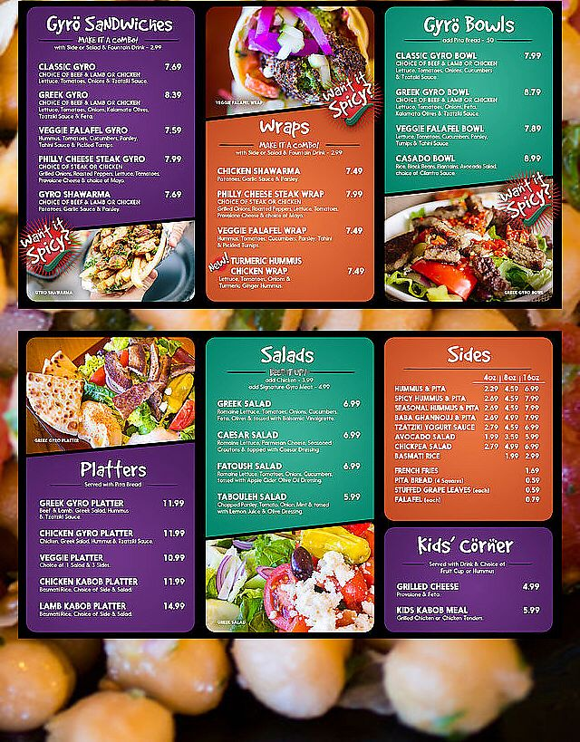 """Photo of Peno Mediterranean Grill  by <a href=""""/members/profile/AshBlanck"""">AshBlanck</a> <br/>Fresh menu! Order at counter  <br/> February 11, 2018  - <a href='/contact/abuse/image/111005/357858'>Report</a>"""