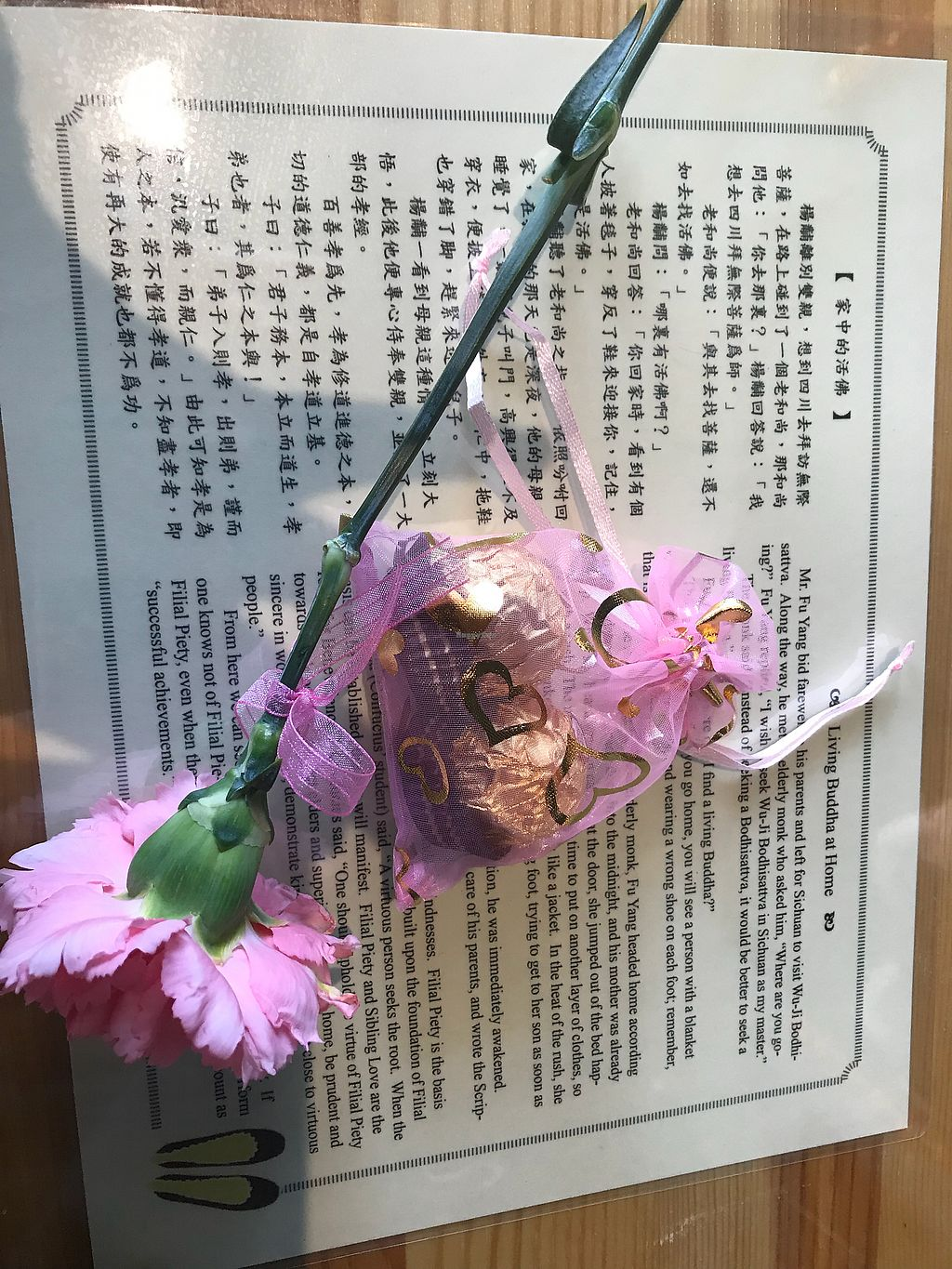 """Photo of Sweet Veggie  by <a href=""""/members/profile/RachelYu"""">RachelYu</a> <br/>Mother's Day they gave out mothers flower and chocolates. How thoughtful <br/> May 13, 2018  - <a href='/contact/abuse/image/111007/399342'>Report</a>"""