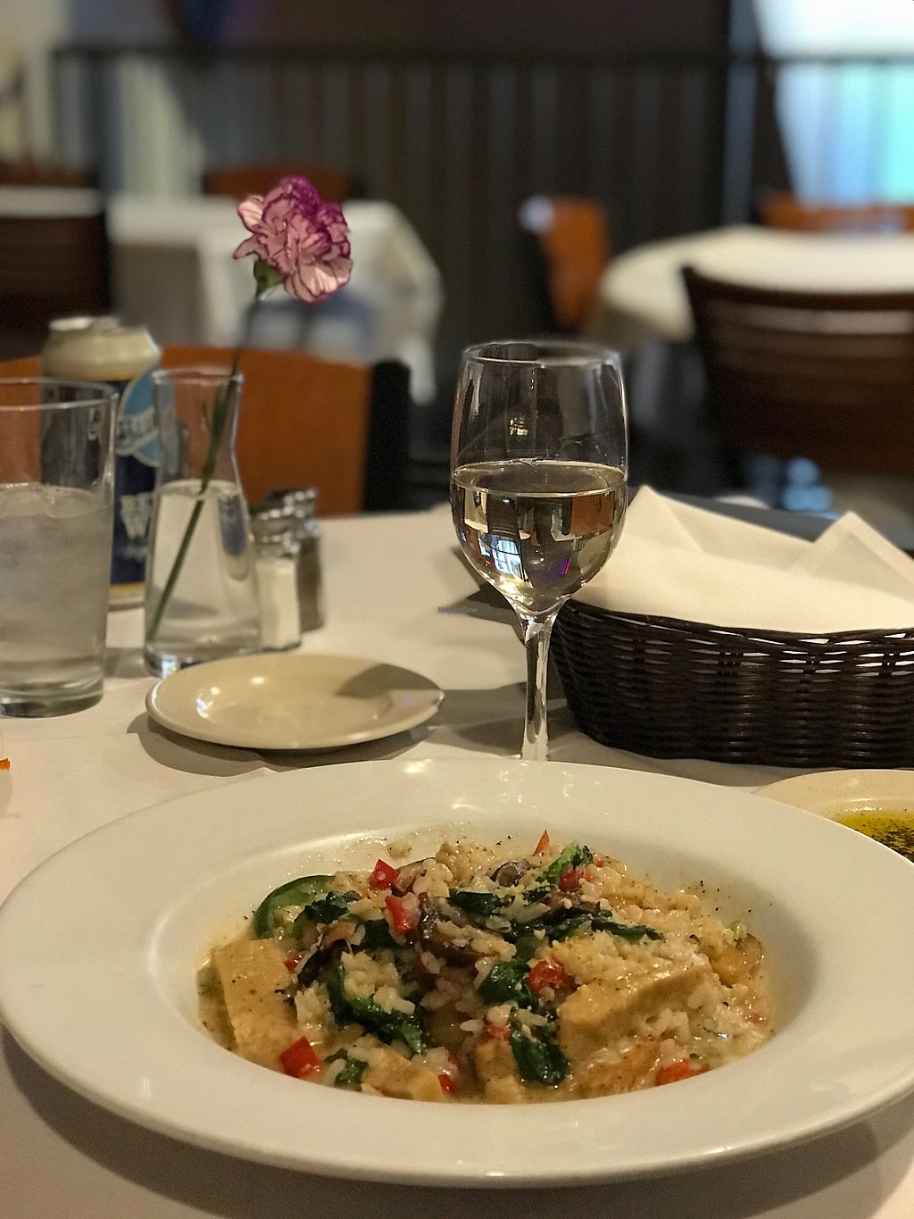 """Photo of Mangia Italiano  by <a href=""""/members/profile/JillFulbrightGray"""">JillFulbrightGray</a> <br/>Mushroom and seitan risotto  <br/> April 6, 2018  - <a href='/contact/abuse/image/111015/381390'>Report</a>"""
