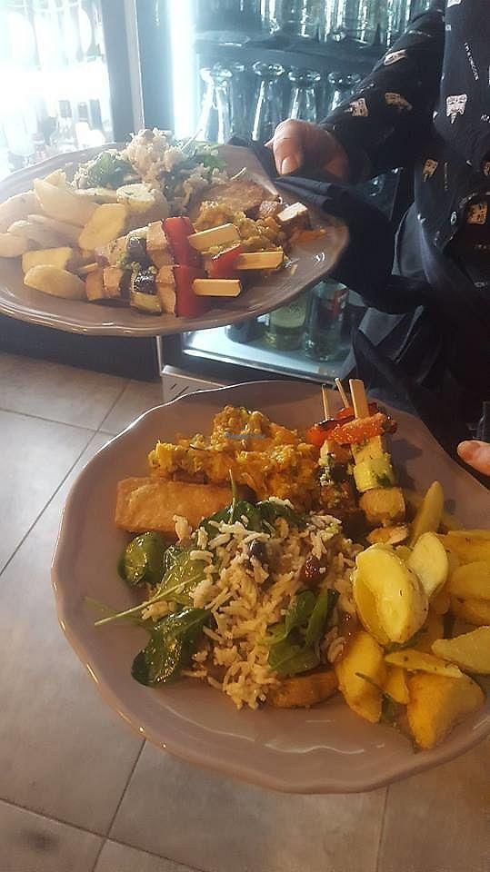 "Photo of Zareca Rajngla  by <a href=""/members/profile/slovenianvegan"">slovenianvegan</a> <br/>Vegan lunch.  Photo by: Žareča Rajngla on Facebook <br/> February 10, 2018  - <a href='/contact/abuse/image/111033/357558'>Report</a>"
