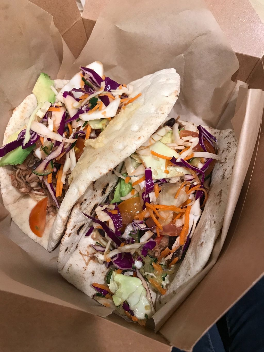 """Photo of Evan's Organic Eatery  by <a href=""""/members/profile/KarenTatur"""">KarenTatur</a> <br/>Jackfruit Tacos <br/> March 14, 2018  - <a href='/contact/abuse/image/111060/370672'>Report</a>"""
