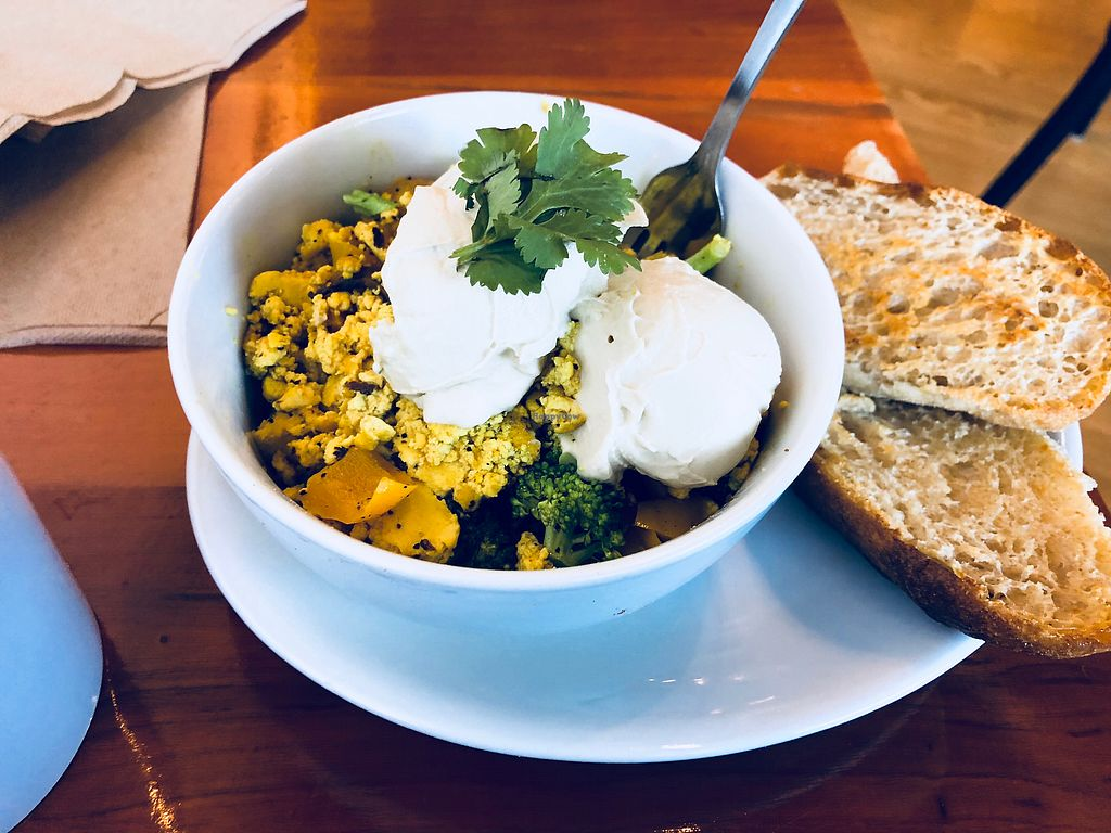 """Photo of Knead Bakery  by <a href=""""/members/profile/Bgeezy"""">Bgeezy</a> <br/>Tofu scramble <br/> April 7, 2018  - <a href='/contact/abuse/image/111070/382094'>Report</a>"""
