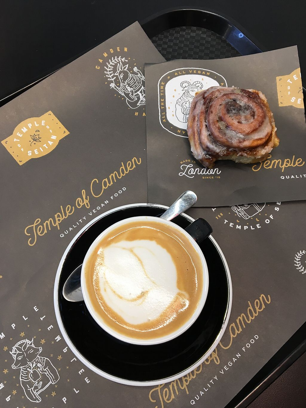 """Photo of Temple of Camden  by <a href=""""/members/profile/eatyourveggies"""">eatyourveggies</a> <br/>Most amazing cinnamon bun and flat white  <br/> March 25, 2018  - <a href='/contact/abuse/image/111116/375848'>Report</a>"""
