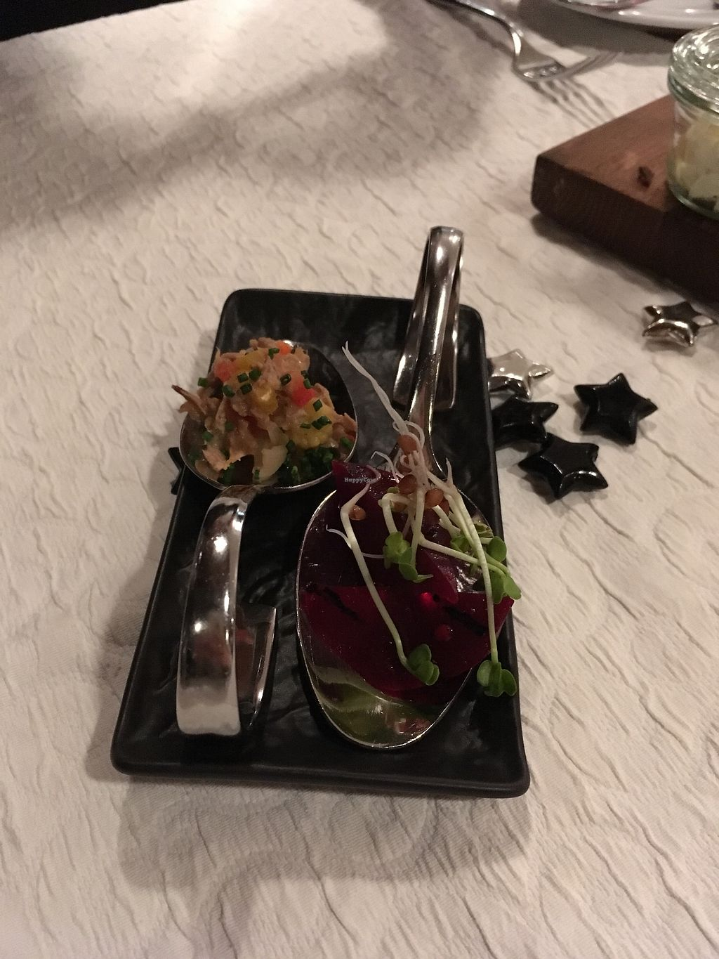 "Photo of Hotel Restaurant Bären  by <a href=""/members/profile/EllenLucinda"">EllenLucinda</a> <br/>Complimentary nibble - beetroot <br/> February 4, 2018  - <a href='/contact/abuse/image/111121/354713'>Report</a>"