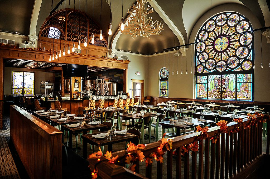 "Photo of Salt Springs Brewery  by <a href=""/members/profile/Saltsprings"">Saltsprings</a> <br/>Beautiful stained glass interior.  118 year old former church!  <br/> February 4, 2018  - <a href='/contact/abuse/image/111155/354845'>Report</a>"