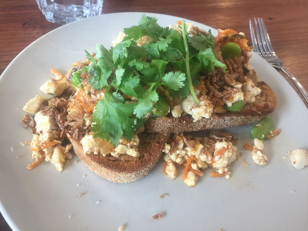"""Photo of Small Graces  by <a href=""""/members/profile/Tiggy"""">Tiggy</a> <br/>Kimchi tofu scramble $18 - Very nice <br/> February 5, 2018  - <a href='/contact/abuse/image/111160/355179'>Report</a>"""