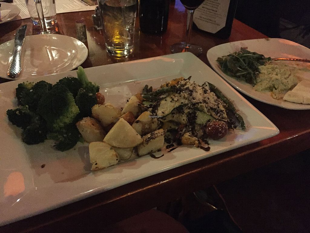 """Photo of Sound Bites Grill  by <a href=""""/members/profile/NickiPT"""">NickiPT</a> <br/>Stuffed portobello dinner <br/> March 9, 2018  - <a href='/contact/abuse/image/111170/368489'>Report</a>"""