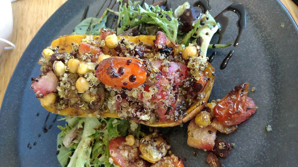 """Photo of Aurora Ozone Hotel  by <a href=""""/members/profile/lasm"""">lasm</a> <br/>Stuffed roast squash (made vegan) <br/> February 7, 2018  - <a href='/contact/abuse/image/111192/355911'>Report</a>"""