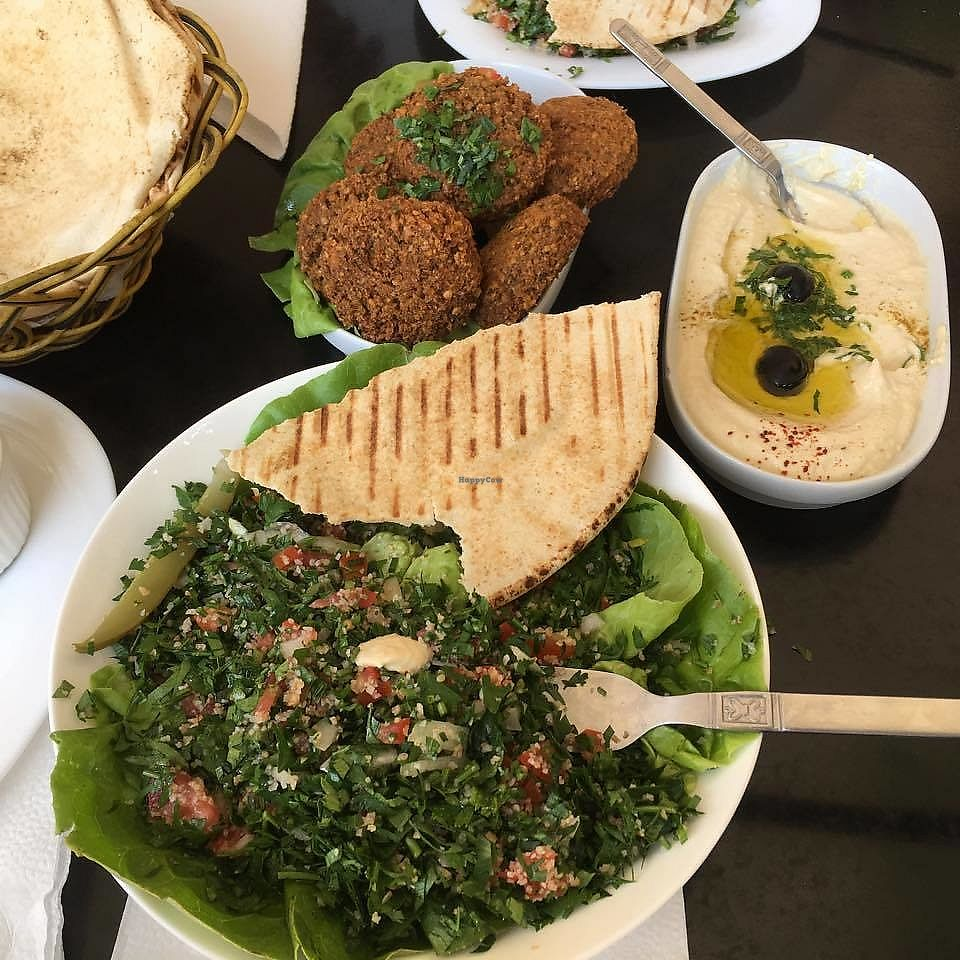 """Photo of Al Fanous  by <a href=""""/members/profile/aami"""">aami</a> <br/>falafel; hummus; tabbouleh; bread <br/> February 18, 2018  - <a href='/contact/abuse/image/111206/360898'>Report</a>"""