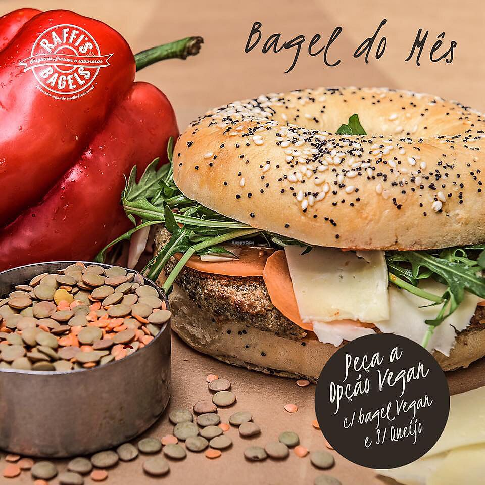 "Photo of Raffi's Bagels - Estefania  by <a href=""/members/profile/Vera%20Peres"">Vera Peres</a> <br/>Vegan bagel with lentil burger  <br/> February 4, 2018  - <a href='/contact/abuse/image/111211/355050'>Report</a>"