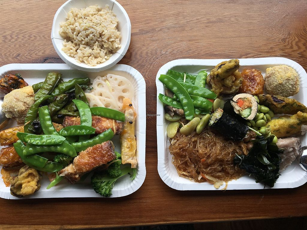 """Photo of Tian Xi - Tianshii  by <a href=""""/members/profile/LenaM"""">LenaM</a> <br/>Food from Tianxi, with half-bowl of brown rice. All together NT$270 <br/> February 21, 2018  - <a href='/contact/abuse/image/111226/361920'>Report</a>"""