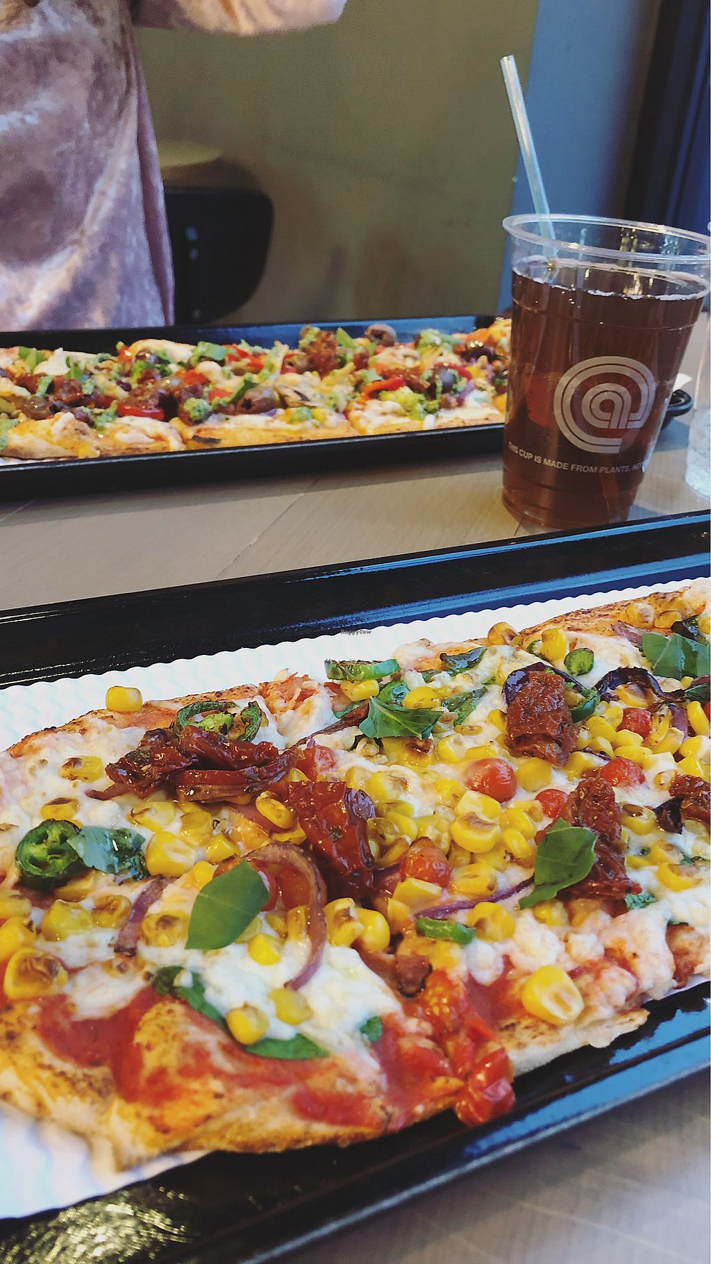 """Photo of @Pizza  by <a href=""""/members/profile/jessicajmac"""">jessicajmac</a> <br/>Vegan Pizza! <br/> April 10, 2018  - <a href='/contact/abuse/image/111251/383504'>Report</a>"""