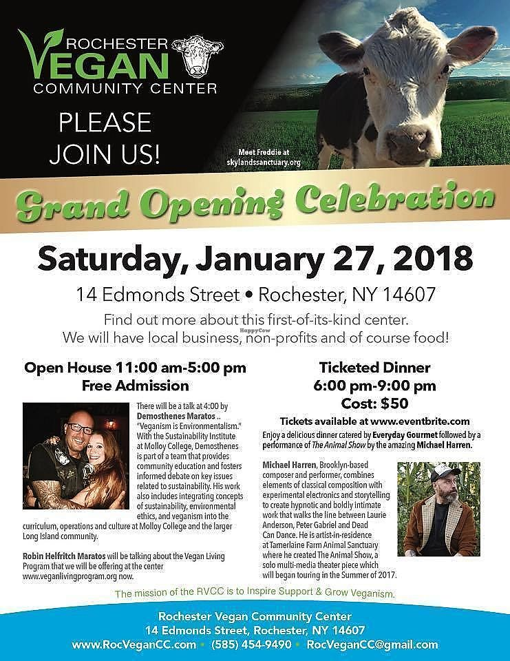 """Photo of Rochester Vegan Community Center  by <a href=""""/members/profile/Michael%20Isavegan"""">Michael Isavegan</a> <br/>Opening celebration <br/> February 5, 2018  - <a href='/contact/abuse/image/111285/355284'>Report</a>"""