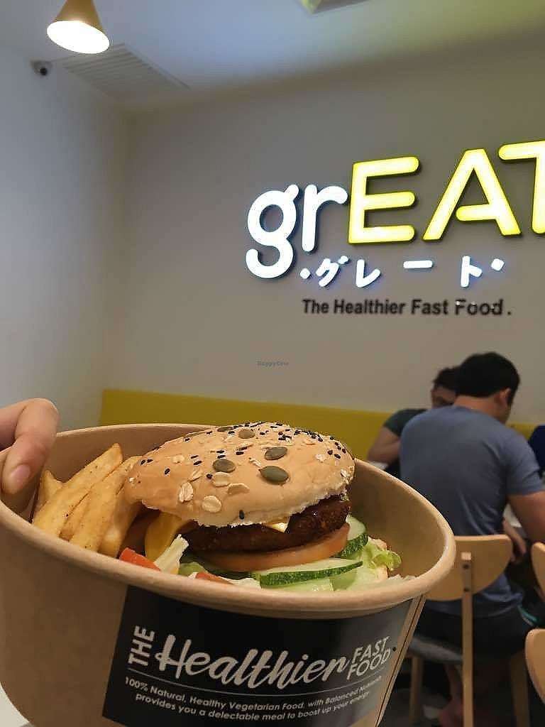 """Photo of grEAT  by <a href=""""/members/profile/BearyVege"""">BearyVege</a> <br/>grEAT burger <br/> February 12, 2018  - <a href='/contact/abuse/image/111329/358213'>Report</a>"""