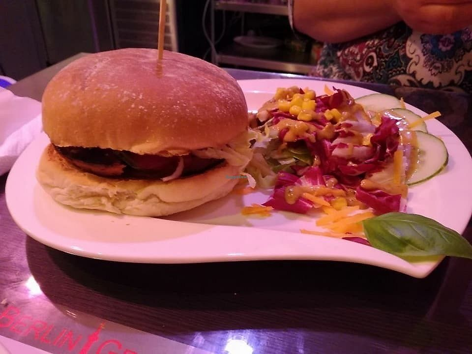 "Photo of Berlin Grill  by <a href=""/members/profile/community5"">community5</a> <br/>Vegan burger <br/> February 17, 2018  - <a href='/contact/abuse/image/111377/360425'>Report</a>"