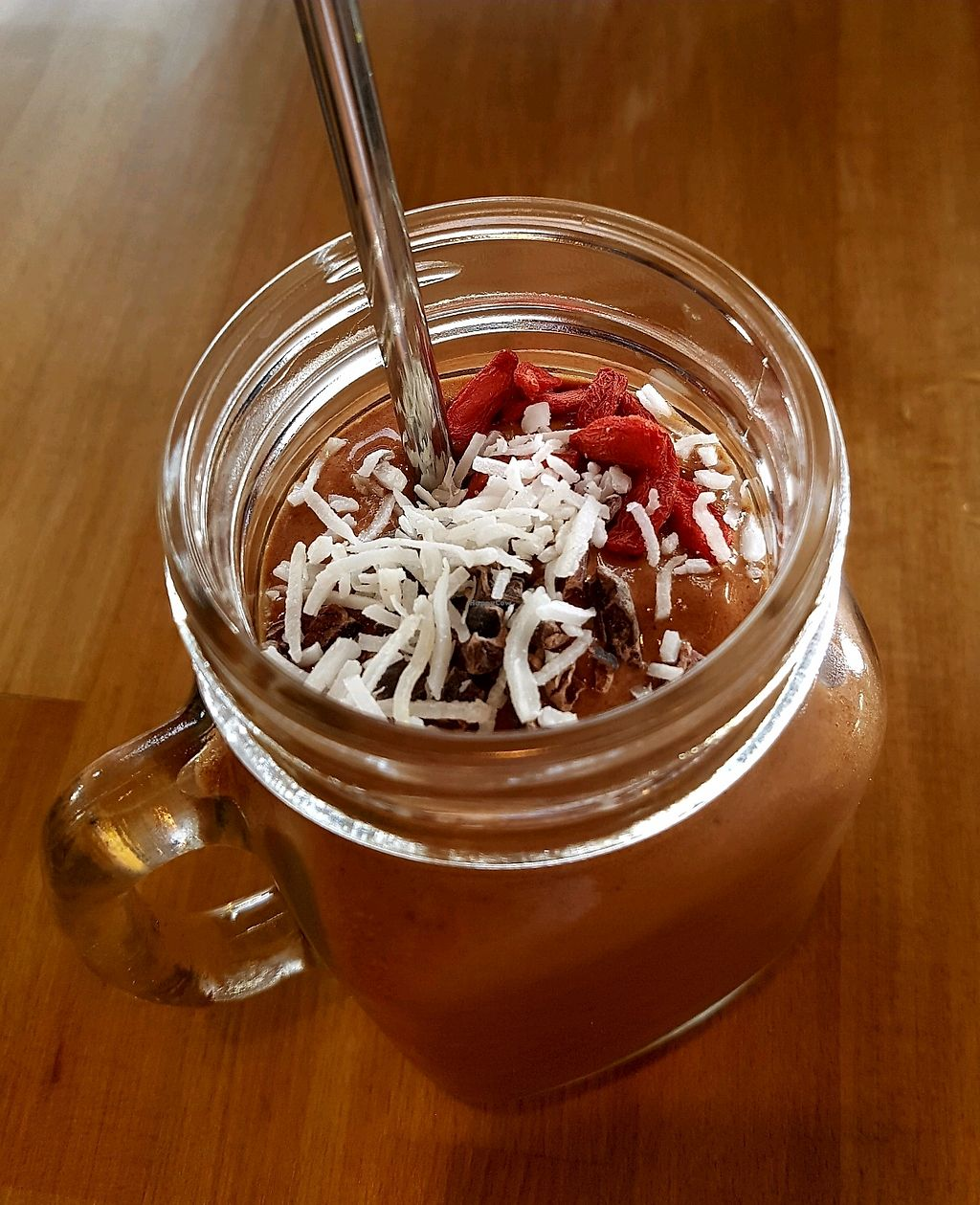 "Photo of The Butcher's Son  by <a href=""/members/profile/SophieAndrews"">SophieAndrews</a> <br/>Cacao Pow Smoothie - Cacao, maca, dates, plant milk and bananas <br/> February 9, 2018  - <a href='/contact/abuse/image/111400/357012'>Report</a>"