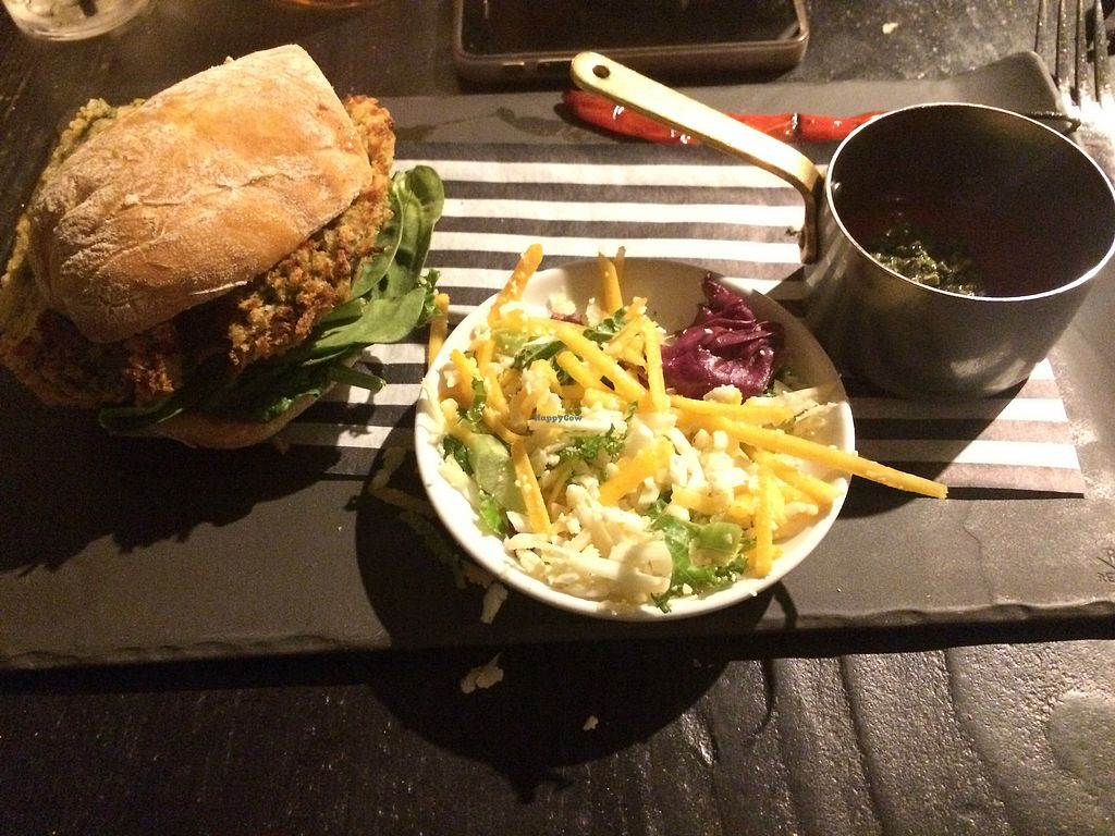 """Photo of The Seahorse  by <a href=""""/members/profile/Patabugen"""">Patabugen</a> <br/>Harissa Burger, small but delicious! <br/> March 27, 2018  - <a href='/contact/abuse/image/111404/376951'>Report</a>"""