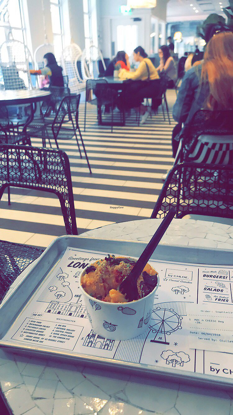 "Photo of By Chloe - Covent Garden  by <a href=""/members/profile/soph161"">soph161</a> <br/>Mac and cheese! Yum! <br/> April 9, 2018  - <a href='/contact/abuse/image/111410/383015'>Report</a>"