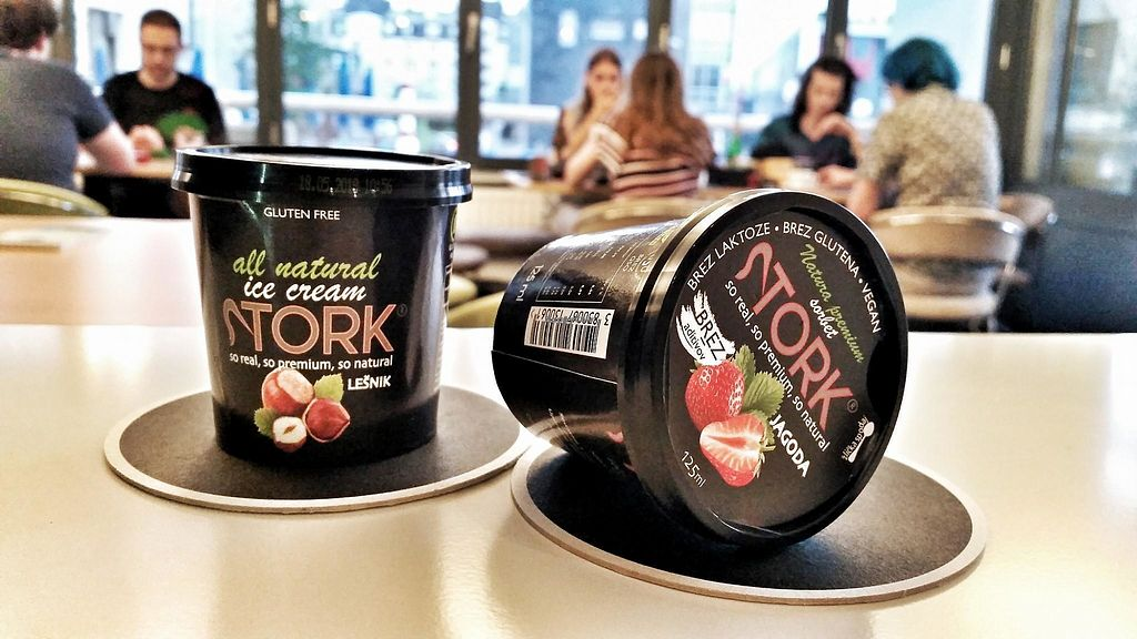 "Photo of Dobra Poteza  by <a href=""/members/profile/slovenianvegan"">slovenianvegan</a> <br/>Stork Slovenian ice cream. Not all flavours are vegan! Watch out for the vegan sign.