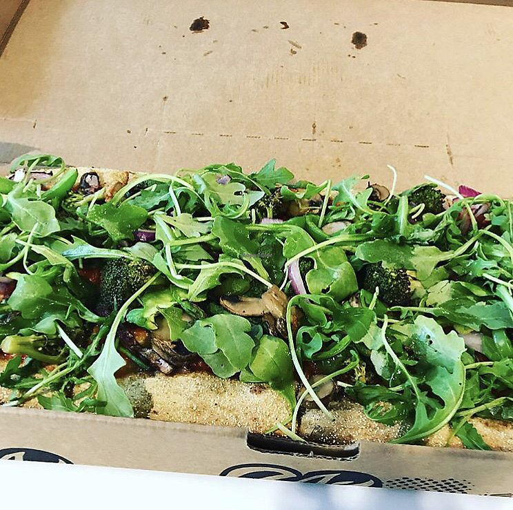 """Photo of Zablong  by <a href=""""/members/profile/AnnB"""">AnnB</a> <br/>Pizza topped with a pile of arugula  <br/> February 23, 2018  - <a href='/contact/abuse/image/111456/362803'>Report</a>"""