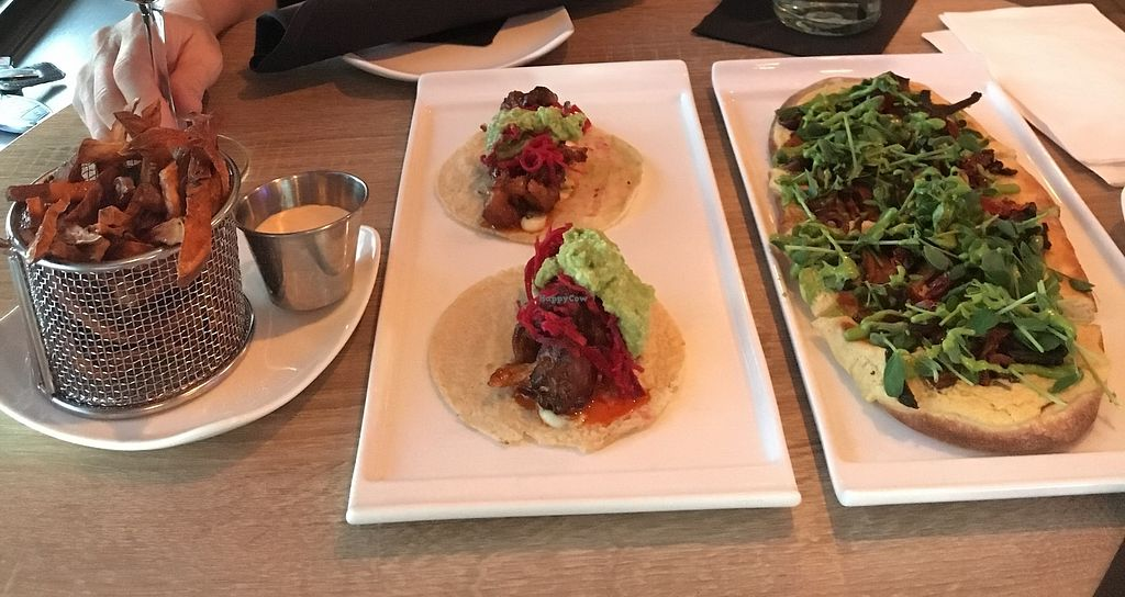 """Photo of Generations Bistro & Bar  by <a href=""""/members/profile/Chandler_"""">Chandler_</a> <br/>Sweet potato fries with house made vegan ranch, buffalo cauliflower tacos, flat bread happy hour menu items  <br/> March 3, 2018  - <a href='/contact/abuse/image/111473/365968'>Report</a>"""