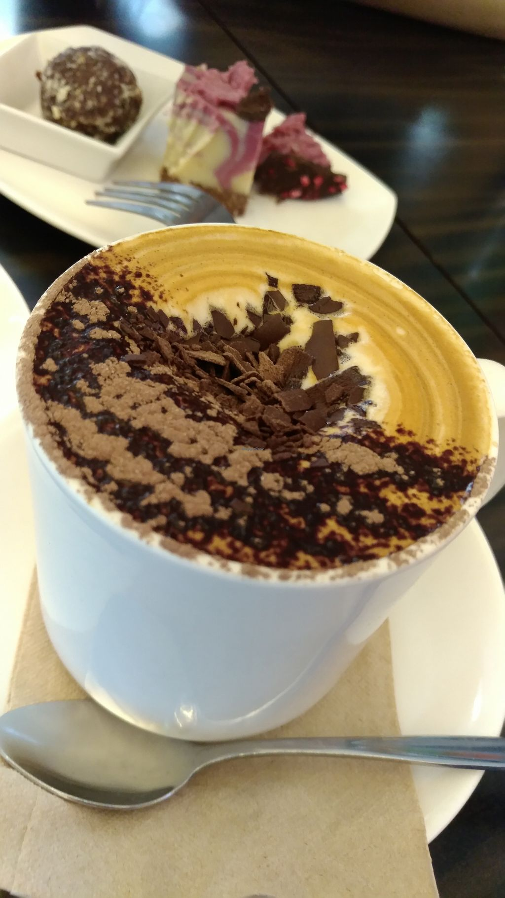 """Photo of Cocolat - Adelaide Airport  by <a href=""""/members/profile/lasm"""">lasm</a> <br/>Soy cappuccino <br/> February 8, 2018  - <a href='/contact/abuse/image/111480/356213'>Report</a>"""
