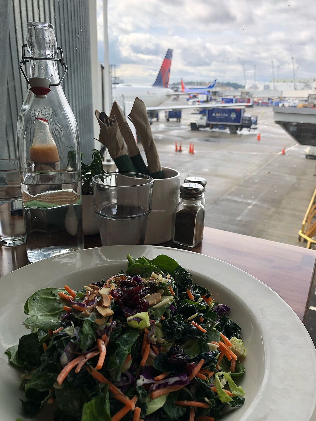 "Photo of Floret - Airport  by <a href=""/members/profile/KerryElise"">KerryElise</a> <br/>Superfood salad and an outside view <br/> March 26, 2018  - <a href='/contact/abuse/image/111482/376118'>Report</a>"