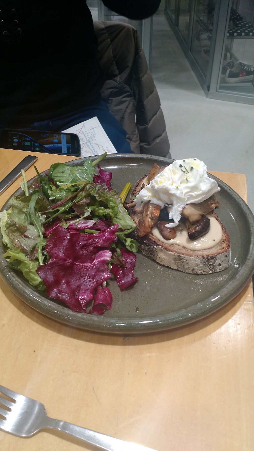 """Photo of Rose Bakery  by <a href=""""/members/profile/paulinadana"""">paulinadana</a> <br/>Bread with cheese and mushrooms. Comes with salad. Good for vegetarians, not vegans <br/> February 8, 2018  - <a href='/contact/abuse/image/111498/356231'>Report</a>"""