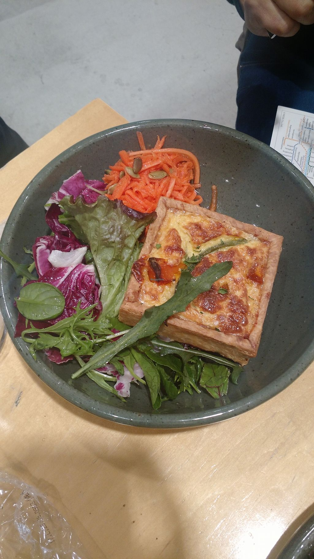 """Photo of Rose Bakery  by <a href=""""/members/profile/paulinadana"""">paulinadana</a> <br/>Bread with cheese. Comes with salad. Good for vegetarians, not vegans <br/> February 8, 2018  - <a href='/contact/abuse/image/111498/356232'>Report</a>"""