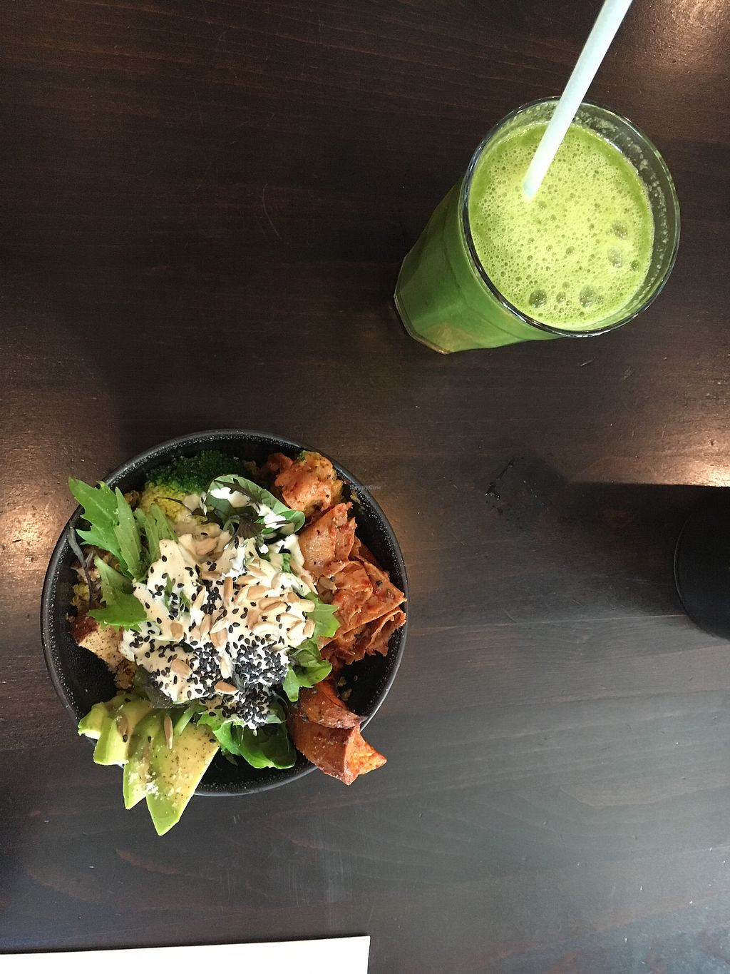 "Photo of Roots - Balboa  by <a href=""/members/profile/berilikum14"">berilikum14</a> <br/>protein bowl with green juice? <br/> March 26, 2018  - <a href='/contact/abuse/image/111501/376578'>Report</a>"
