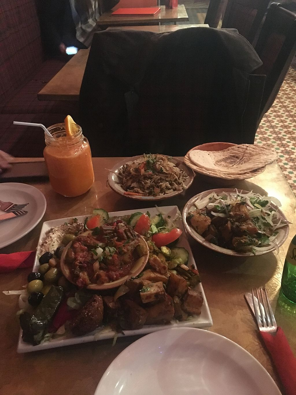 "Photo of Tarboush  by <a href=""/members/profile/BrandonLongley"">BrandonLongley</a> <br/>Vegan Mezze and other sides <br/> February 7, 2018  - <a href='/contact/abuse/image/111535/356136'>Report</a>"