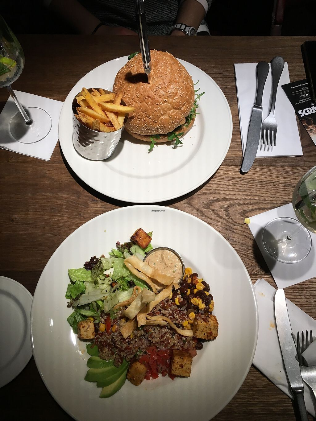"""Photo of Hard Rock Cafe  by <a href=""""/members/profile/ValentinaCarlotto"""">ValentinaCarlotto</a> <br/>Vegan burger & Southwest quinoa bowl <br/> February 7, 2018  - <a href='/contact/abuse/image/111536/356128'>Report</a>"""
