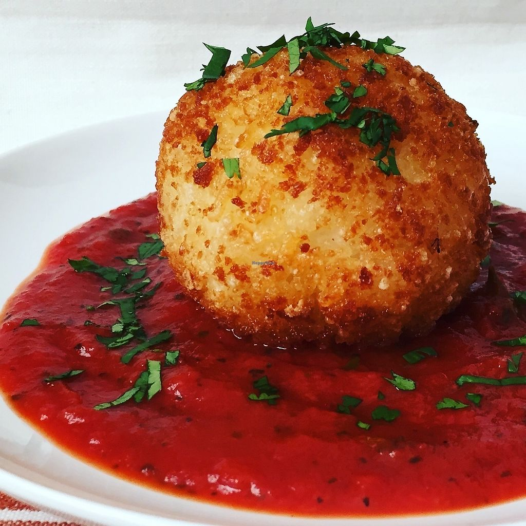 """Photo of Chip and Kale  by <a href=""""/members/profile/Lady05"""">Lady05</a> <br/>Baked Broccoli Arancini Elegant, creamy Sicilian dish of rice balls stuffed with cheesy broccoli, crusted in panko bread crumbs, baked golden, dipped in roasted red pepper sauce <br/> February 8, 2018  - <a href='/contact/abuse/image/111552/356194'>Report</a>"""