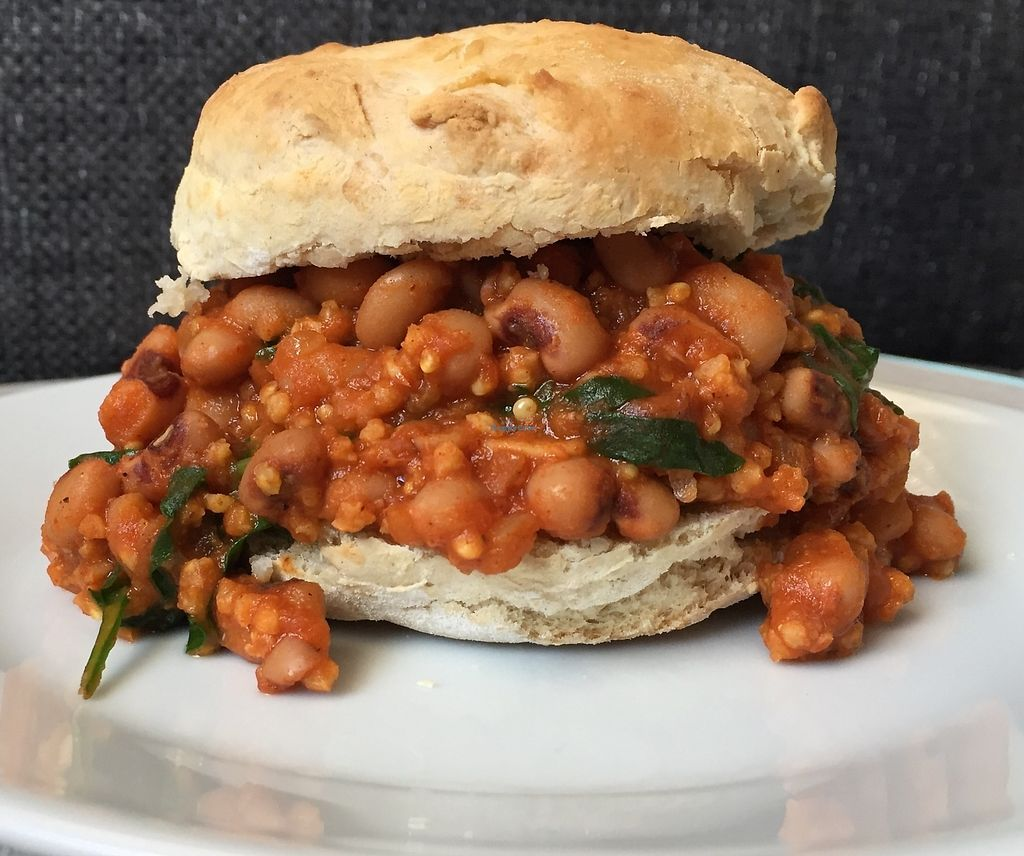 """Photo of Chip and Kale  by <a href=""""/members/profile/Lady05"""">Lady05</a> <br/>Southern Style Sloppy Joes with Biscuits This rich, sweet- savory, smoky sandwiches will leave you wanting more.Iron loaded black eye peas, quinoa, onions, carrots, peppers and kale are simmered perfectly sweet tomato based sauce with Cajun spices, served in homemade biscuits makes quick healthy dinner <br/> February 8, 2018  - <a href='/contact/abuse/image/111552/356199'>Report</a>"""
