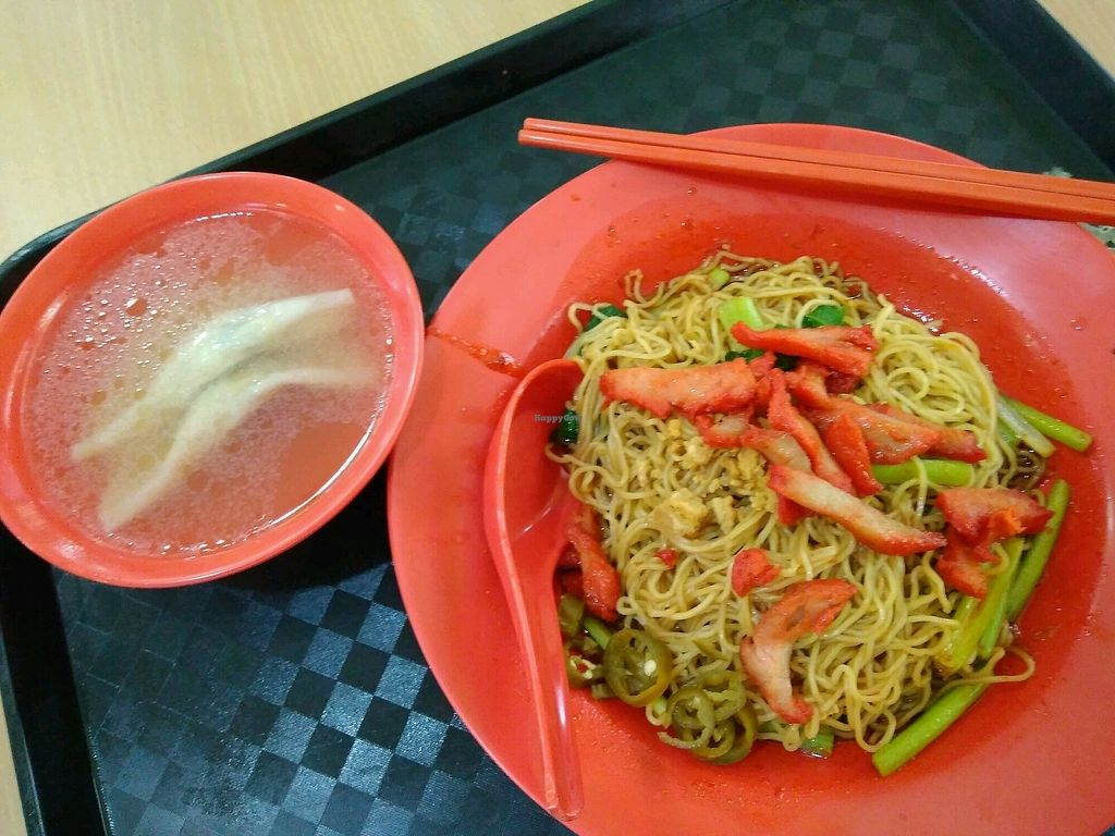 """Photo of Zervex Building Vegetarian Stall  by <a href=""""/members/profile/RichardLee"""">RichardLee</a> <br/>Wanton noodle <br/> February 8, 2018  - <a href='/contact/abuse/image/111564/356421'>Report</a>"""