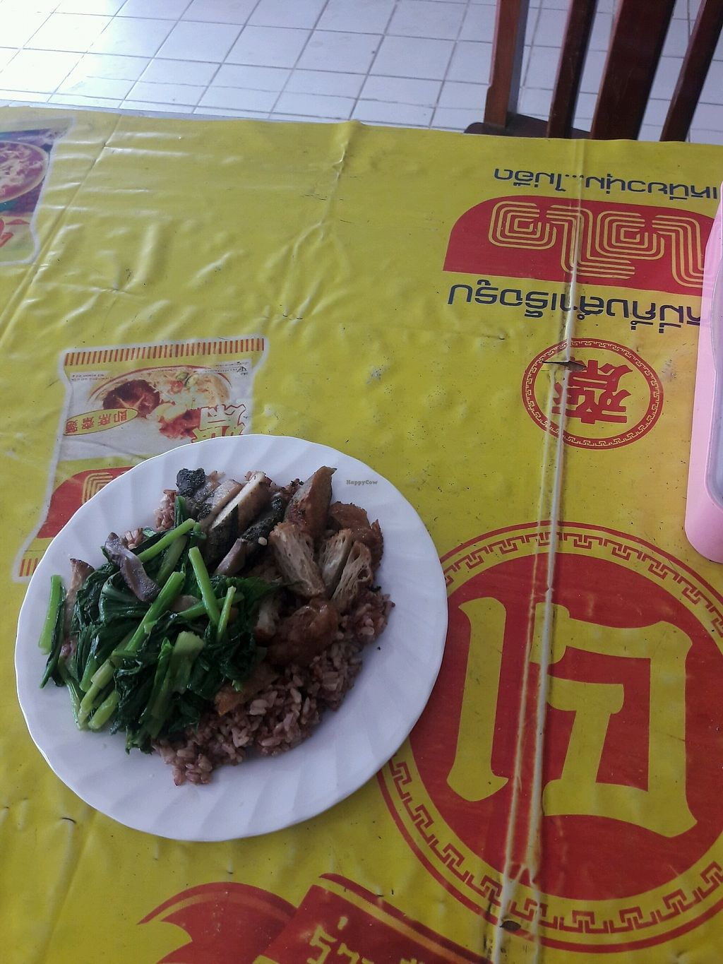 """Photo of Veg Restaurant  by <a href=""""/members/profile/DanJy"""">DanJy</a> <br/>mock meats and greens with rice <br/> February 8, 2018  - <a href='/contact/abuse/image/111569/356356'>Report</a>"""