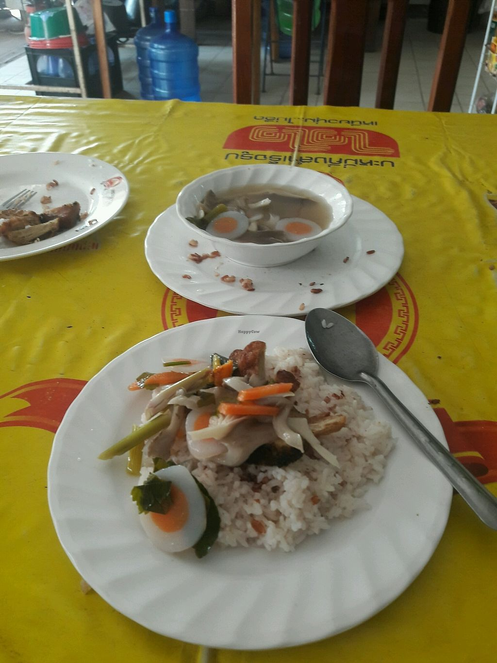 """Photo of Veg Restaurant  by <a href=""""/members/profile/DanJy"""">DanJy</a> <br/>mock eggs and veg with rice <br/> February 8, 2018  - <a href='/contact/abuse/image/111569/356357'>Report</a>"""