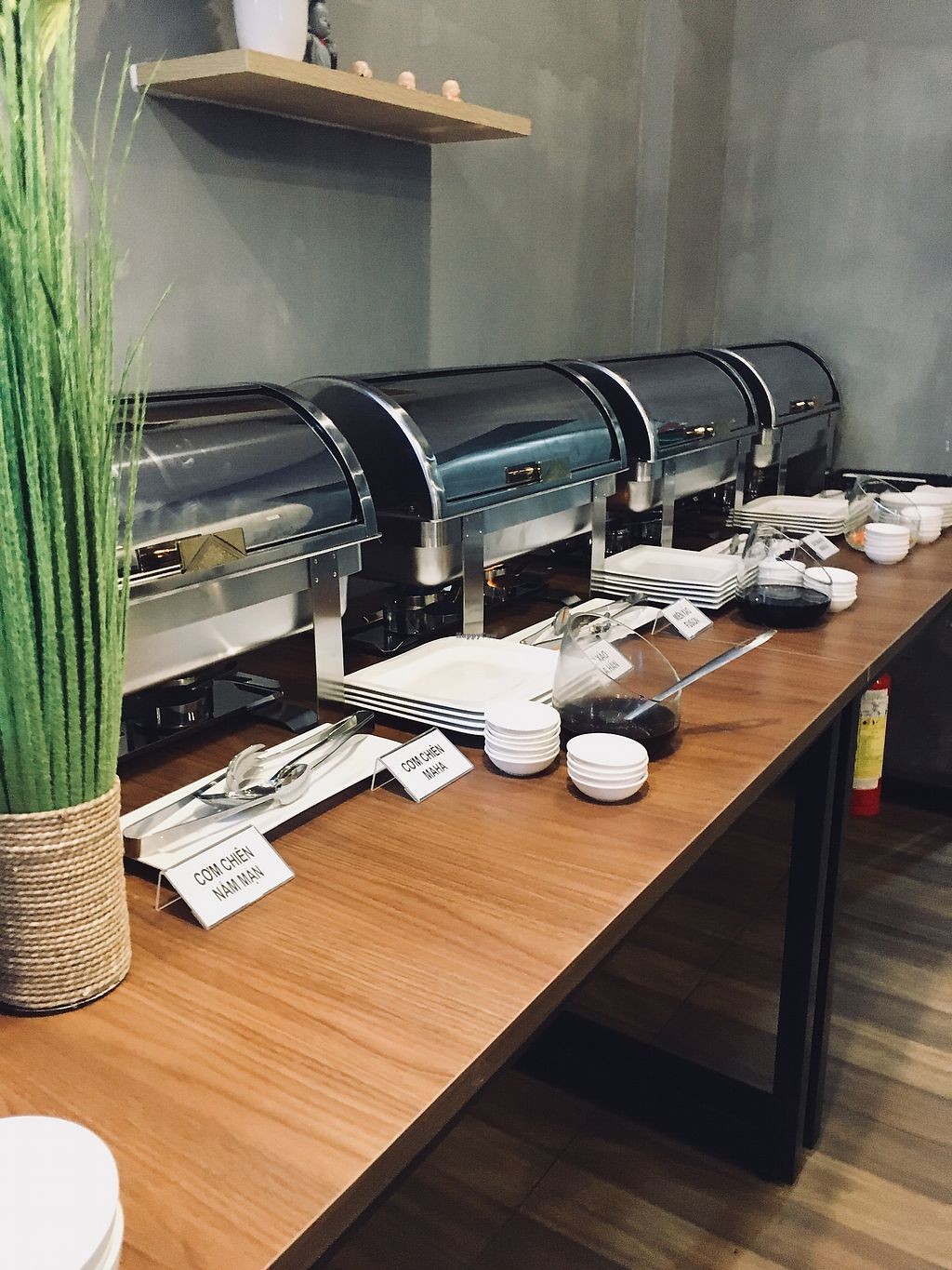 """Photo of Maha Vegan  by <a href=""""/members/profile/BastianSteinbach"""">BastianSteinbach</a> <br/>Warm vegan buffet  <br/> March 18, 2018  - <a href='/contact/abuse/image/111634/372210'>Report</a>"""