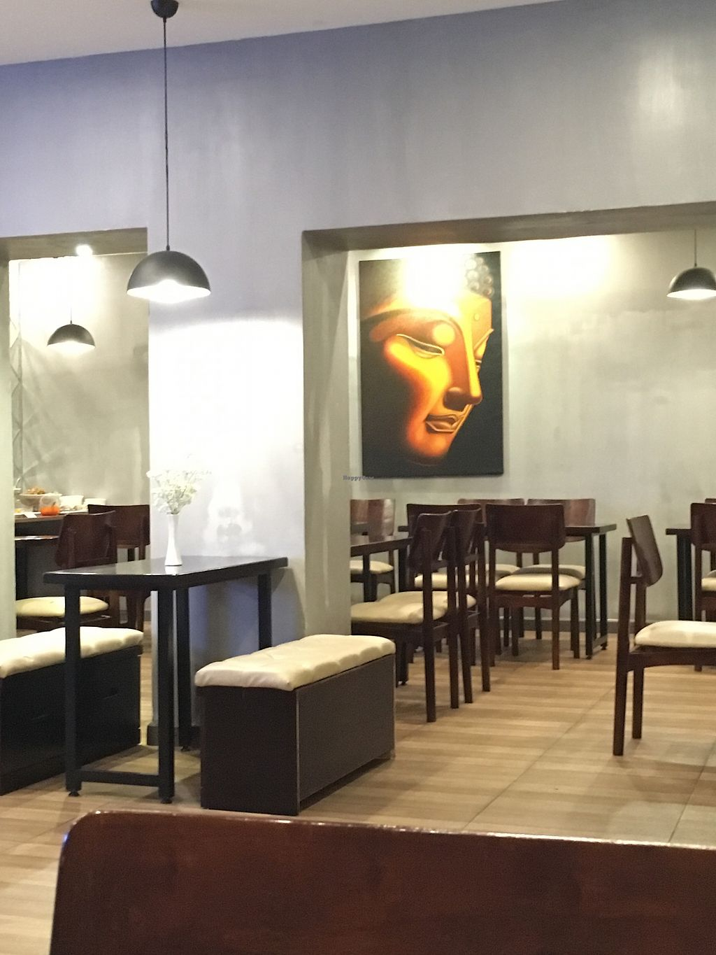 """Photo of Maha Vegan  by <a href=""""/members/profile/BastianSteinbach"""">BastianSteinbach</a> <br/>Inside the restaurant  <br/> March 18, 2018  - <a href='/contact/abuse/image/111634/372212'>Report</a>"""