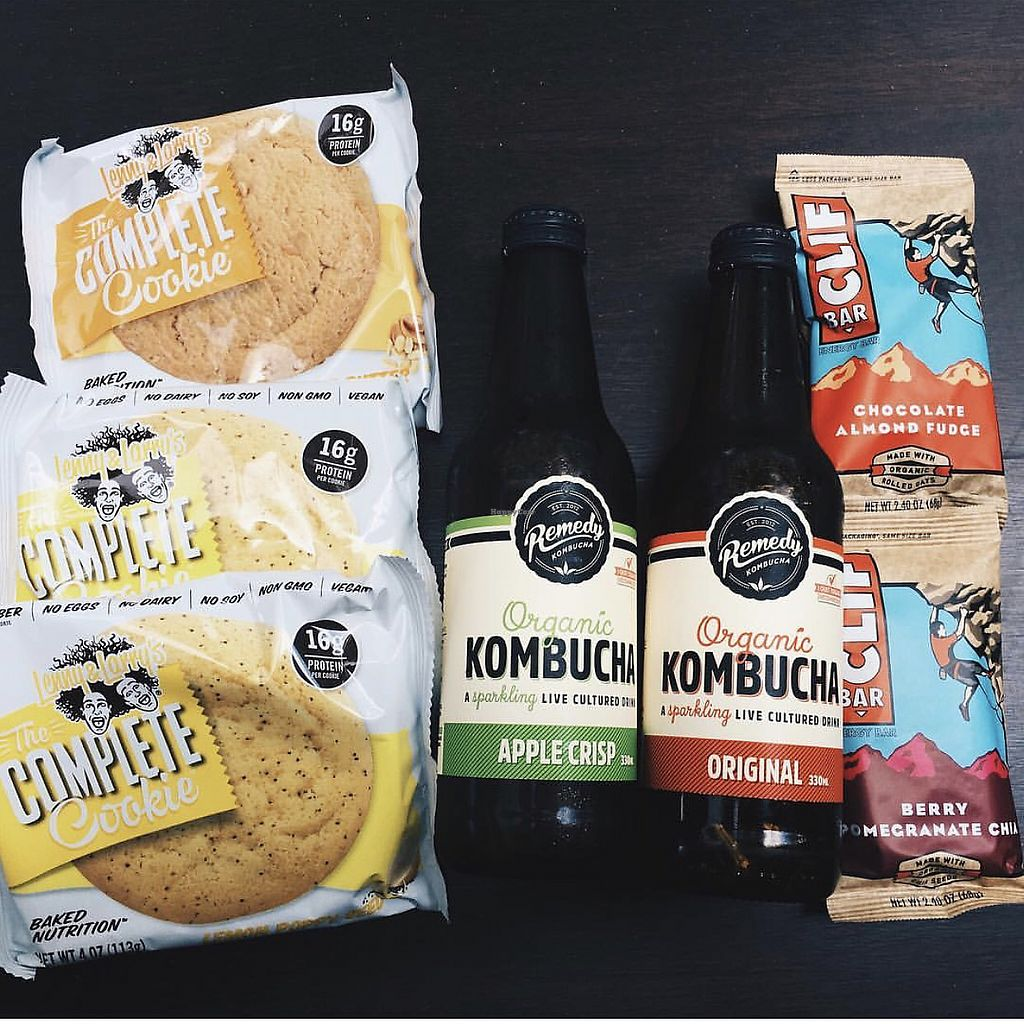 """Photo of Eat Organic  by <a href=""""/members/profile/CherylQuincy"""">CherylQuincy</a> <br/>Vegan cookies, konbucha and energy bars <br/> February 11, 2018  - <a href='/contact/abuse/image/111639/357886'>Report</a>"""