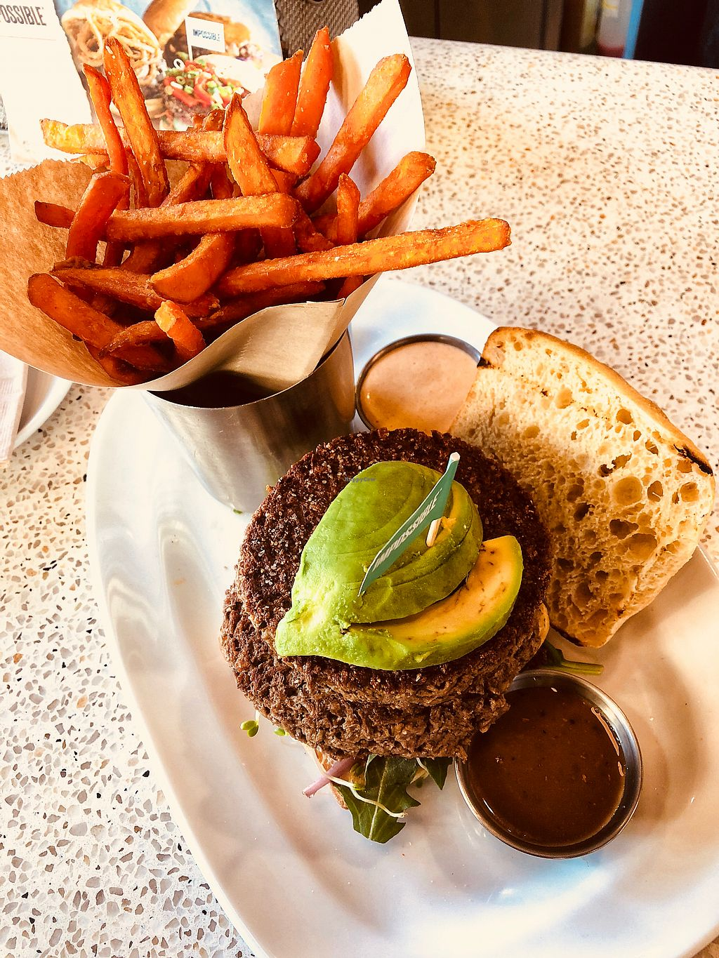 """Photo of The Counter  by <a href=""""/members/profile/teaneedz"""">teaneedz</a> <br/>The 1/2 lb Impossible Burger <br/> March 10, 2018  - <a href='/contact/abuse/image/111640/368662'>Report</a>"""