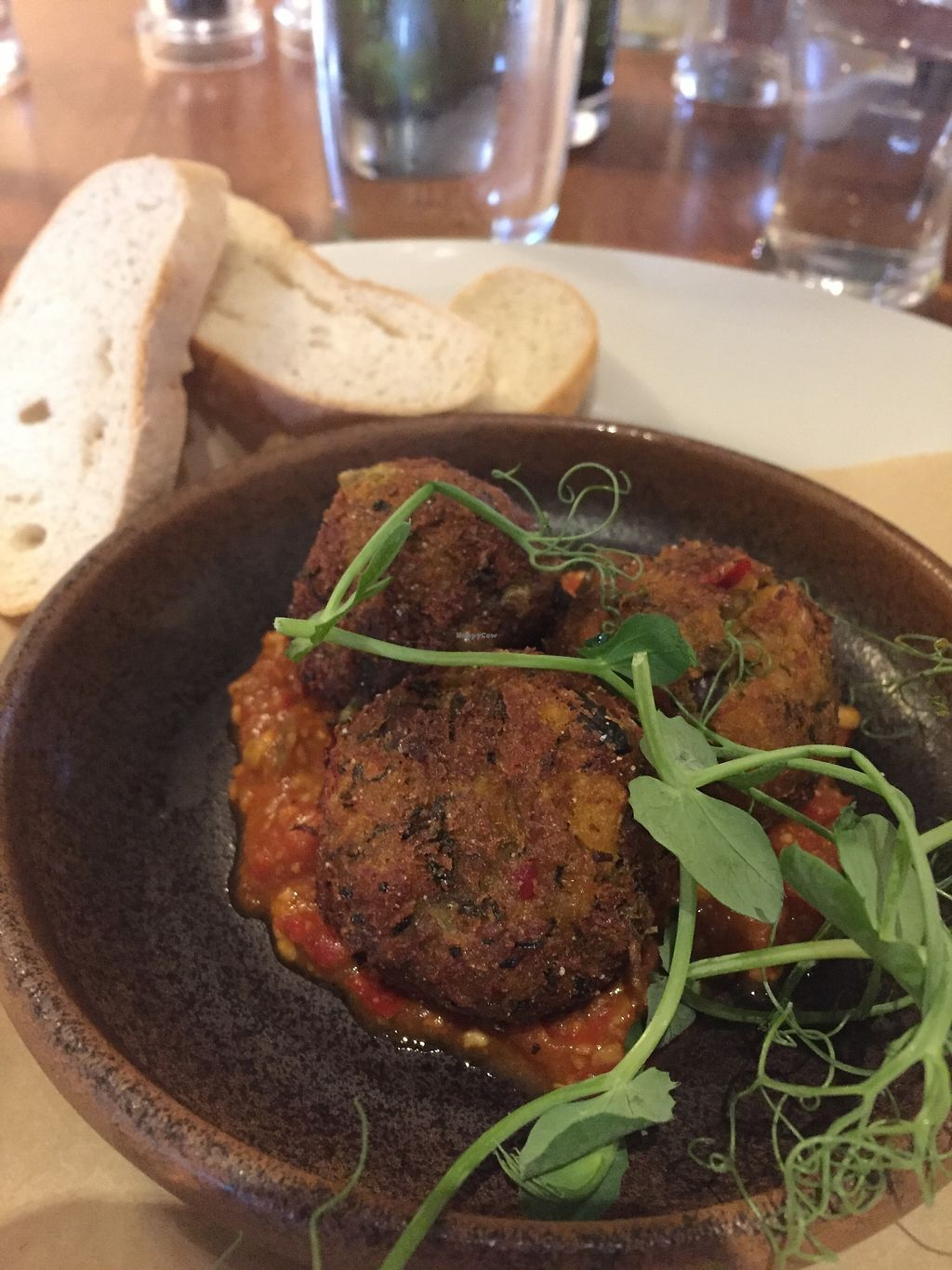 """Photo of The Three Horseshoes  by <a href=""""/members/profile/stephenwelleruk"""">stephenwelleruk</a> <br/>Chickpea & Lentil Falafel for starters <br/> February 12, 2018  - <a href='/contact/abuse/image/111645/358474'>Report</a>"""