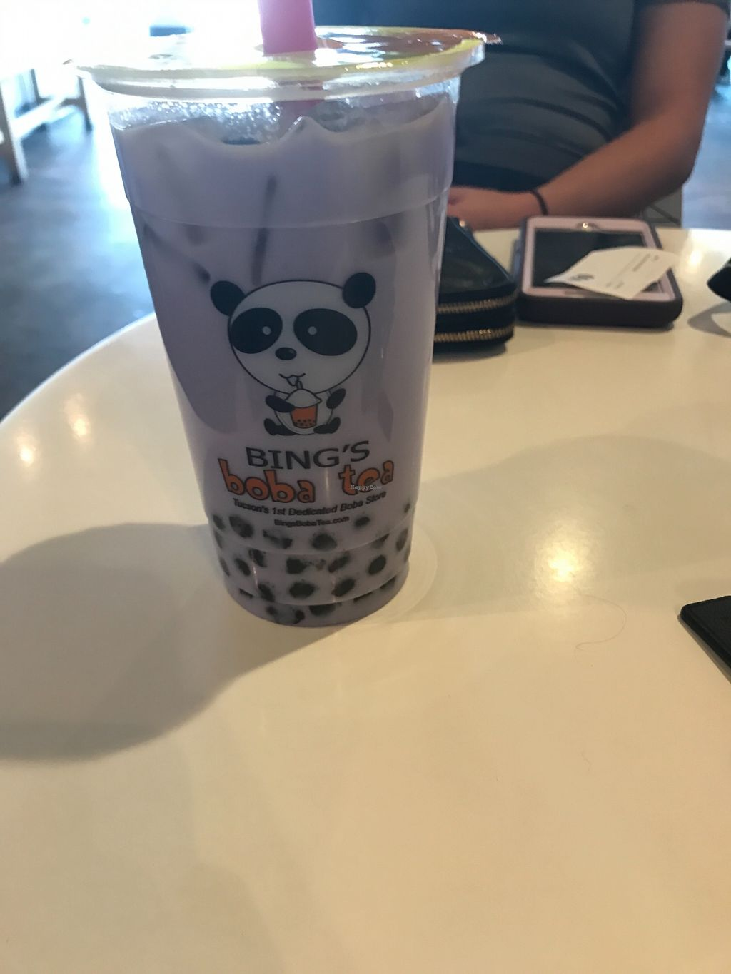 """Photo of Bing's Boba Tea  by <a href=""""/members/profile/MaceyRose"""">MaceyRose</a> <br/>Taro tea with coconut milk and boba  <br/> February 9, 2018  - <a href='/contact/abuse/image/111664/356905'>Report</a>"""