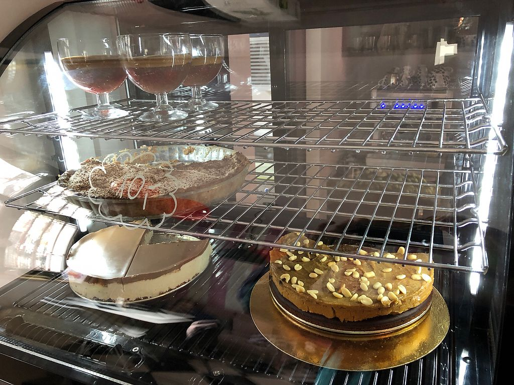 "Photo of No Sugar Cafe by Fit Academy  by <a href=""/members/profile/evan123"">evan123</a> <br/>Desserts of the day.  The bottom right is a vegan peanut butter mousse on chocolate bean cake and is out of this world! <br/> February 17, 2018  - <a href='/contact/abuse/image/111675/360328'>Report</a>"