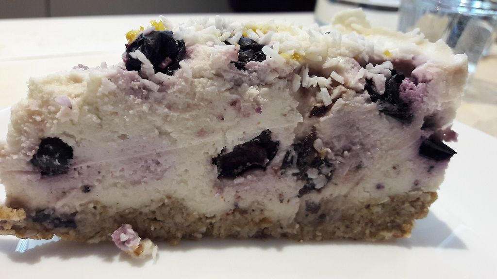 """Photo of Steep & Filter  by <a href=""""/members/profile/Veganolive1"""">Veganolive1</a> <br/>Raw blueberry cheesecake <br/> March 8, 2018  - <a href='/contact/abuse/image/111694/368208'>Report</a>"""