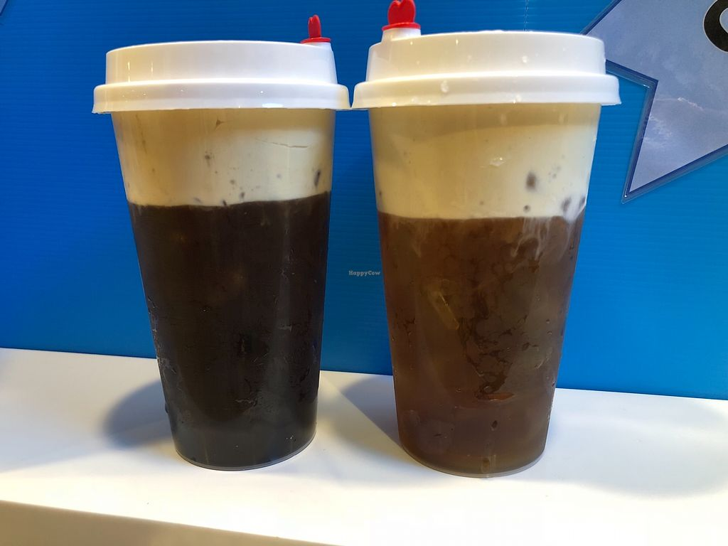 """Photo of One, Simply One by Mr Bean  by <a href=""""/members/profile/CherylQuincy"""">CherylQuincy</a> <br/>Coffee Macchiato and Tea Macchiato, both with Premium Japanese Soy Cream cap <br/> February 12, 2018  - <a href='/contact/abuse/image/111718/358184'>Report</a>"""