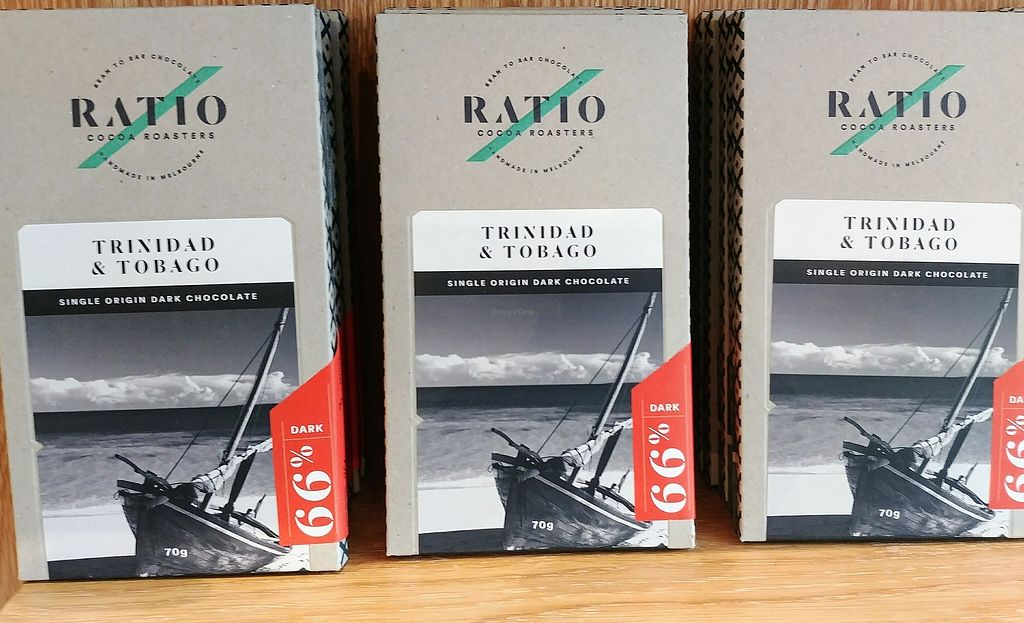 """Photo of Ratio Cocoa Roasters  by <a href=""""/members/profile/karlaess"""">karlaess</a> <br/>Trinidad & Tobago: single origin dark chocolate <br/> February 11, 2018  - <a href='/contact/abuse/image/111776/358039'>Report</a>"""